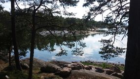 Eine Ansicht denken wir ziemlich allgemeines in der Sommerzeit, wenn wir Bootfahrt in Finnland sind Stockbild