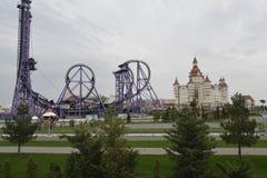 Eine Ansicht der Anziehungskräfte Sochi-Parks im Olympiapark Stockbild