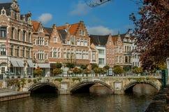 Eine Ansicht der belgischen Stadt, Lier Stockfotografie