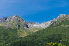 Eine Ansicht der Berge in Norwegen stockfoto