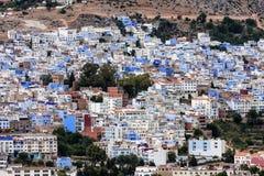 Eine Ansicht der blauen Stadt, Chefchaouen, Marokko Stockbild