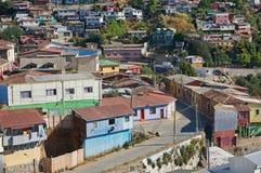 Eine Ansicht der bunten Stadt von Valparaiso, Chil Lizenzfreie Stockfotografie