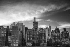 Eine Ansicht der Gebäude der Ostseite New York stockfotos