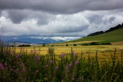 Eine Ansicht der niedrigen Tatra-Berge Lizenzfreies Stockbild