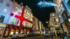 Eine Ansicht der schönen Weihnachtslichter in zentralem London stockfotografie