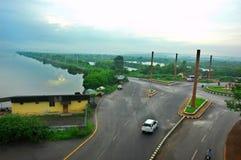Eine Ansicht der Stadt. Lizenzfreies Stockfoto
