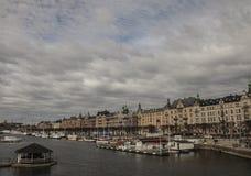 Eine Ansicht der Stadt von Stockholm stockbild