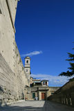 Eine Ansicht an der Straße von San Marino Lizenzfreie Stockfotografie