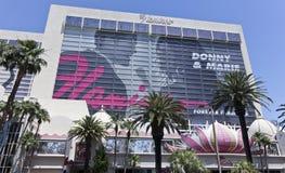 Eine Ansicht des Flamingos in Las Vegas, Nevada lizenzfreie stockfotos