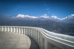 Eine Ansicht des Himalajas Lizenzfreie Stockbilder