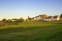 Eine Ansicht des Küstendorfs von Groomsport auf der der Grafschaft Küste unten von Belfast-Lough in Nordirland Lizenzfreies Stockbild