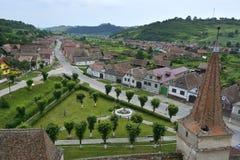 Eine Ansicht des kleinen Dorfs Lizenzfreies Stockfoto