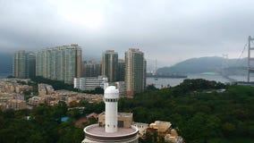 Eine Ansicht des MAs Wan Island von einem quadcopter stock video