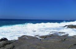 Eine Ansicht des Meeres vom Ufer Strand Stockfoto