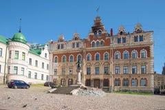 Eine Ansicht des Monuments zum Gründer Wyborg - Thorgils Knutsson auf dem alten Marktplatz Stockfoto