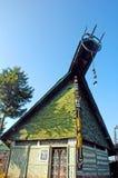 Eine Ansicht einer traditionellen Hütte von Nagaland. Lizenzfreie Stockbilder