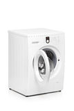 Eine Ansicht einer Waschmaschine Stockfoto