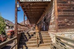 Eine Ansicht eines Geisterstadt Kalikos, Kalifornien, USA, Grafschaft parken jetzt Stockfoto
