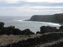 Eine Ansicht eines seanery der Küste von den Azoren Stockbilder