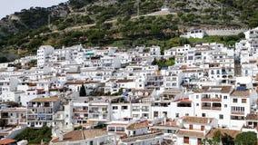 Eine Ansicht eines spanischen Dorfs Mijas in Andalusien lizenzfreies stockfoto