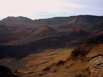 Eine Ansicht Haleakala Nationalparks, Maui, Hawaii lizenzfreies stockbild