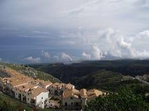 Eine Ansicht hinter Wolken Lizenzfreie Stockfotos
