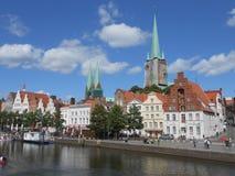Eine Ansicht historischer Mitte Luebeck, Deutschland lizenzfreies stockfoto