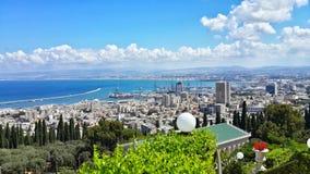 Eine Ansicht nach Haifa in Israel Lizenzfreies Stockbild