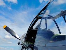 Eine Ansicht vom Cockpit lizenzfreies stockbild
