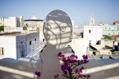Eine Ansicht vom Hotelbalkon, Kuba lizenzfreie stockfotos