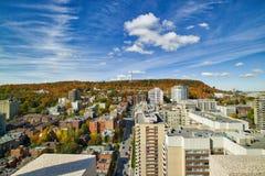 Eine Ansicht vom Mont-königlichen, von einem Montreal's-Wolkenkratzer Lizenzfreies Stockfoto