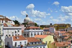 Eine Ansicht von Alfama, Lissabon lizenzfreie stockfotografie