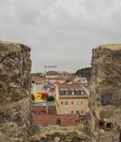 Eine Ansicht von Castelo de S Jorge, Lissabon, Portugal stockfotografie
