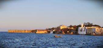 Eine Ansicht von den Docks auf Mosambik-Insel stockfotos