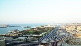 Eine Ansicht von der Übereinstimmungs-Turm-Palme Jumeira Dubai Stockfoto