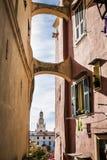 Eine Ansicht von der alten Stadt von Sanremo 1 Stockfotografie