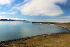 Eine Ansicht von der arktischen Tundra Lizenzfreie Stockfotos