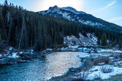 Eine Ansicht von der Seite des roade, Kananaskis-Land, Alberta, Kanada Lizenzfreie Stockbilder
