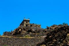 Eine Ansicht von Dharbar Hall Golconda Fort Hyderabad lizenzfreie stockbilder