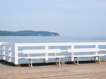 Eine Ansicht von einem Pier auf der Ostsee Lizenzfreies Stockbild