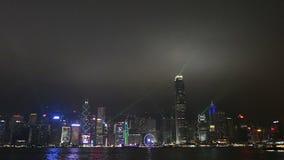 Eine Ansicht von Hong Kong Island nachts stock video