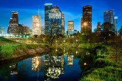 Eine Ansicht von im Stadtzentrum gelegenem Houston Lizenzfreie Stockfotos