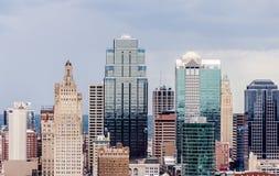 Eine Ansicht von im Stadtzentrum gelegenem Kansas City Lizenzfreie Stockfotos