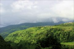 Eine Ansicht von Khyoubu MAI-Dorf, Senapati stockbilder