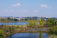 Eine Ansicht von Liaoyuan in Jilin-Provinz in China Lizenzfreie Stockfotografie