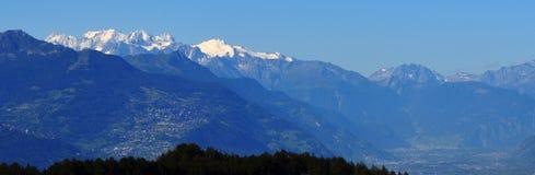 Eine Ansicht von MNT Blanc Lizenzfreie Stockbilder