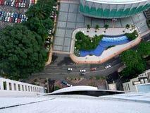 Eine Ansicht von oben Stockbild