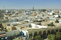 Eine Ansicht von oben genanntem einer arabischen Stadt Stockbilder