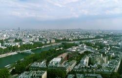 Eine Ansicht von Paris vom Eiffelturm stockfotografie