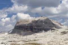 Eine Ansicht von Piz Boe dolomites Italien stockfoto